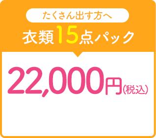 衣類15点パック22,000円(税込)