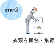 STEP2 衣類を梱包・集荷